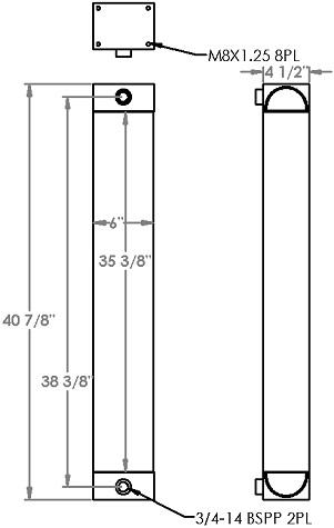 271291 - Atlas Copco Oil Cooler Oil Cooler