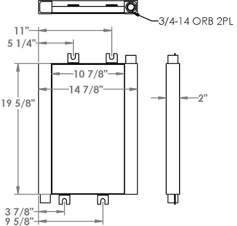 271293 - Kubota Skidsteer Oil Cooler Oil Cooler