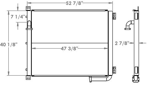 271297 - Komatsu PC600LC-7 Oil Cooler Oil Cooler