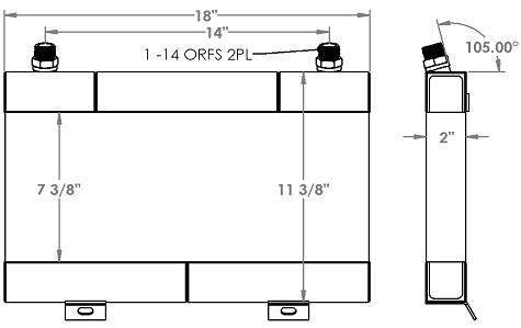 271300 - Ford / New Holland 555C Transmission Oil Cooler Oil Cooler