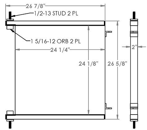 271302 - John Deere / Timberjack 660D Skidder Hydraulic Oil Cooler Oil Cooler