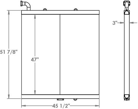 271303 - Komatsu PC650-3 Excvator Hydraulic Oil Cooler Oil Cooler