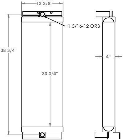 271309 - Caterpillar 963 Oil Cooler Oil Cooler