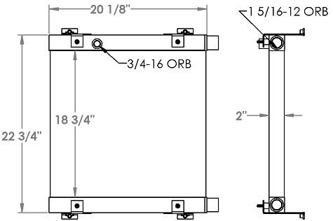 271311 - Bobcat 5600 Toolcat Hydraulic Oil Cooler Oil Cooler