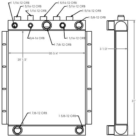 271315 - Industrial Oil Cooler Oil Cooler