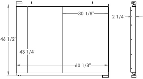 271316 - Schramm 660 Drill Rig Oil Cooler Oil Cooler