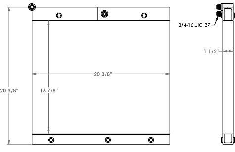 271320 - Case W11 Wheel Loader Oil Cooler Oil Cooler