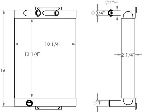 271322 - Gardner Denver Hydrapak MH3 Series Oil Cooler Oil Cooler