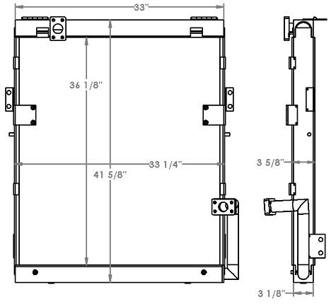 271324 - Samsung Excavator Hydraulic Oil Cooler Oil Cooler
