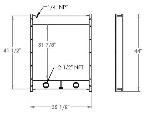 271327 - Industrial Oil Cooler Oil Cooler