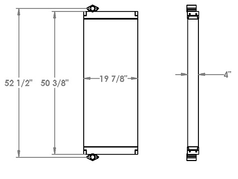 271328 - Kobelco SK350LC-9 Hydraulic Oil Cooler Oil Cooler