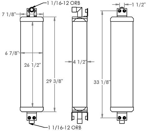271333 - Case 850 Hydraulic Oil cooler Oil Cooler
