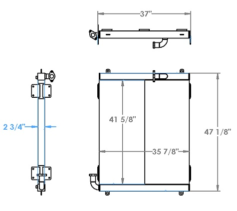 271338 - Link Belt 348 Crane Oil Cooler Oil Cooler