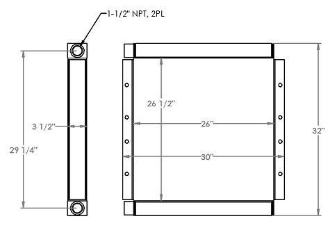 271339 - Industrial Oil Cooler Oil Cooler