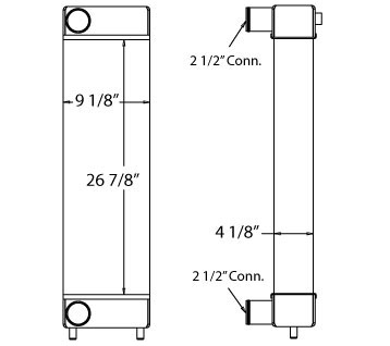 280034 - Komatsu WA150-6 Charge Air Cooler S/N 85001-up Charge Air Cooler