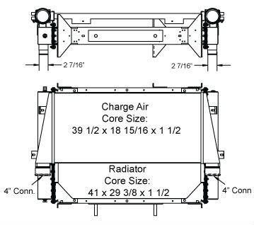 290063 - Crane Carrier Radiator and Charge Air Cooler Package Combo Unit