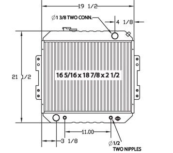 410112 - Nissan Lift Truck Radiator