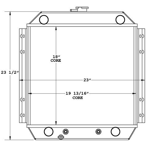 450516 - Airport Tug Radiator Radiator