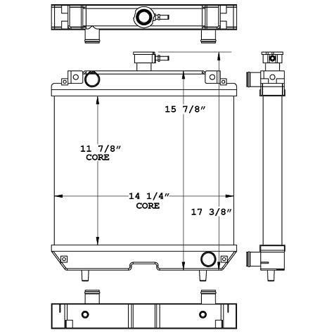 450988 - Multiquip DA7000 Generator Radiator Radiator