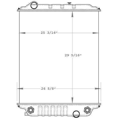 900020AT - Ford Cargo Radiator