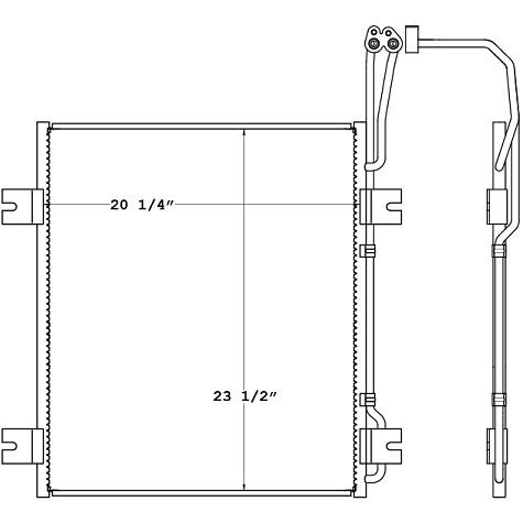 CON0043 - Navistar 8600 & 9000 Condenser Condenser