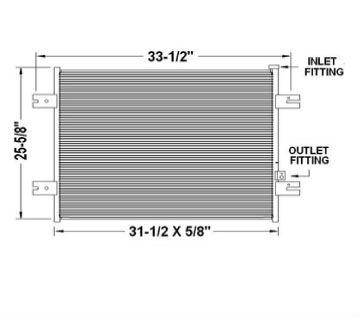 CON0058 - Peterbilt 377 / 389 Condenser 2005 - 2008 Condenser