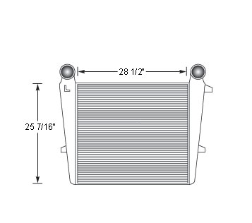 MAC17306-N - Western Star up to 1990 Charge Air Cooler 22227-3402 Charge Air Cooler