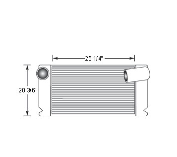 TRA12003 - Transit Bus Charge Air Cooler Charge Air Cooler