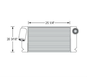 TRA12004 - Transit Bus Charge Air Cooler Charge Air Cooler