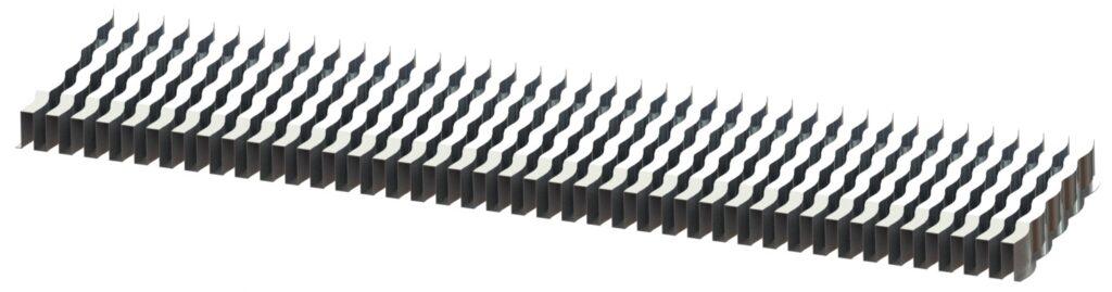 aluminum wave fin for an aluminum radiator