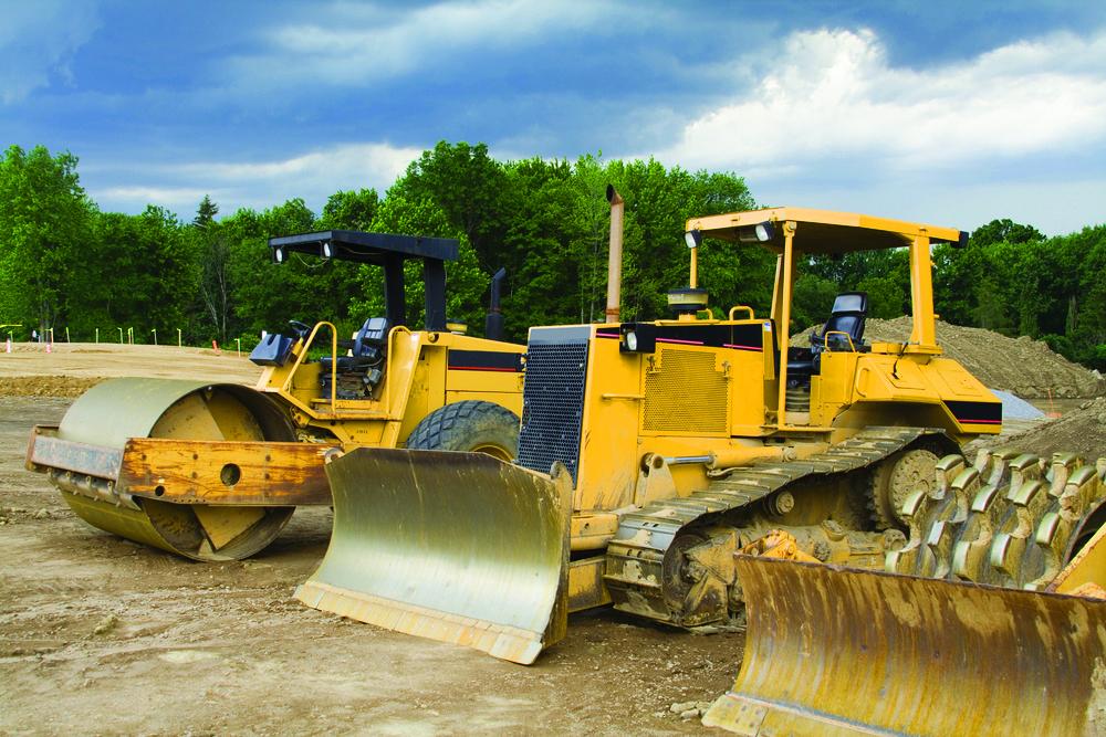 a yellow loader