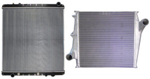 a heavy-duty radiator and charge air cooler