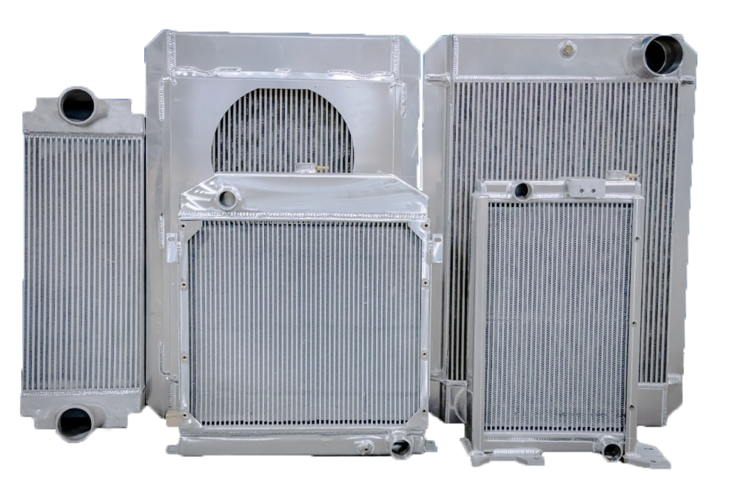 aluminum radiators, charge air coolers, and oil coolers