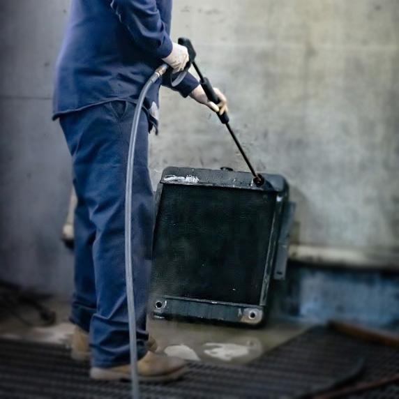 internal cleaning a radiator
