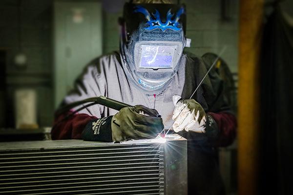 welding a radiator