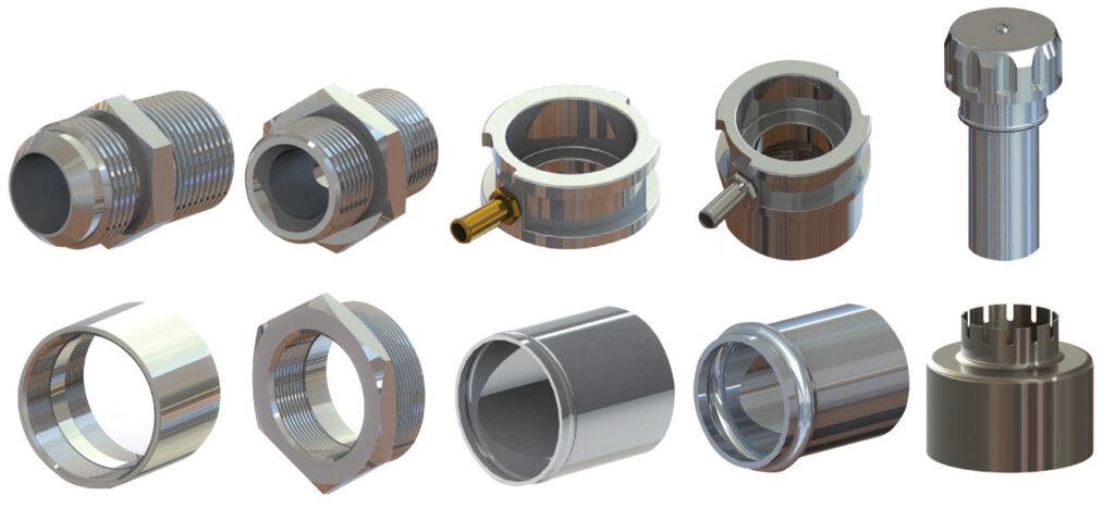 various metal parts