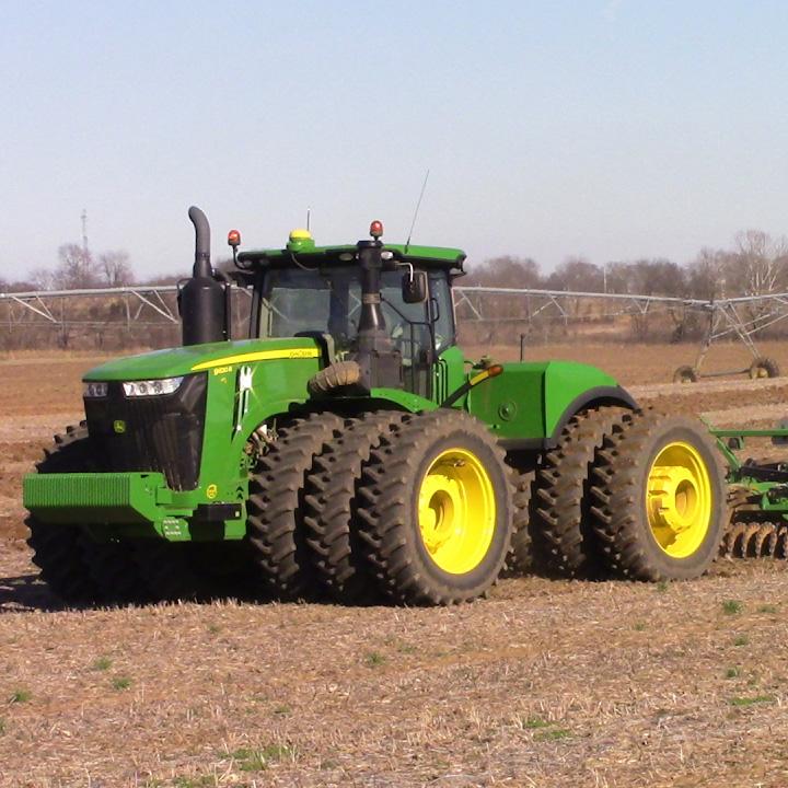 john deere tractor in a field