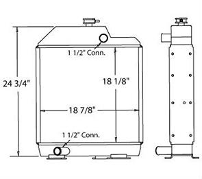 Massey Ferguson 450208 radiator drawing