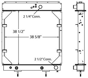 Advanced 450484 radiator drawing