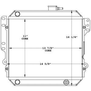 Cushman 450844 radiator drawing