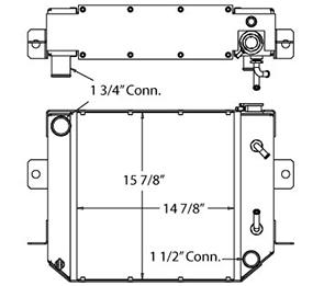Daewoo 410214 radiator drawing