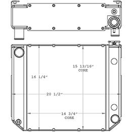 Daewoo 410223 radiator drawing