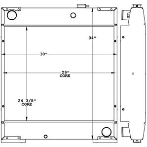 Doosan 450038 radiator drawing