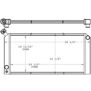 Doosan 451136 radiator drawing