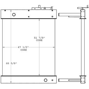 Gardner Denver 450568 radiator drawing