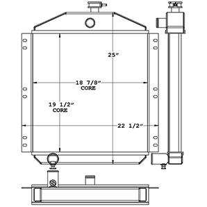 Gardner Denver 451025 radiator drawing