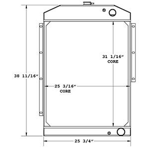 Gradall 450515 radiator drawing