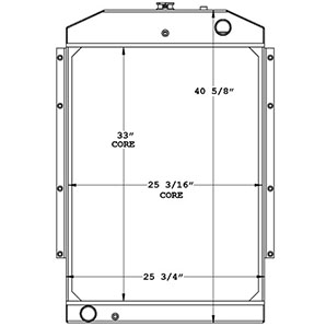 Gradall 450838 radiator drawing