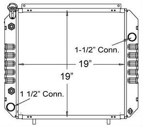 Hyster 410131 radiator drawing