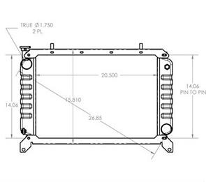 Hyster 410196 radiator drawing